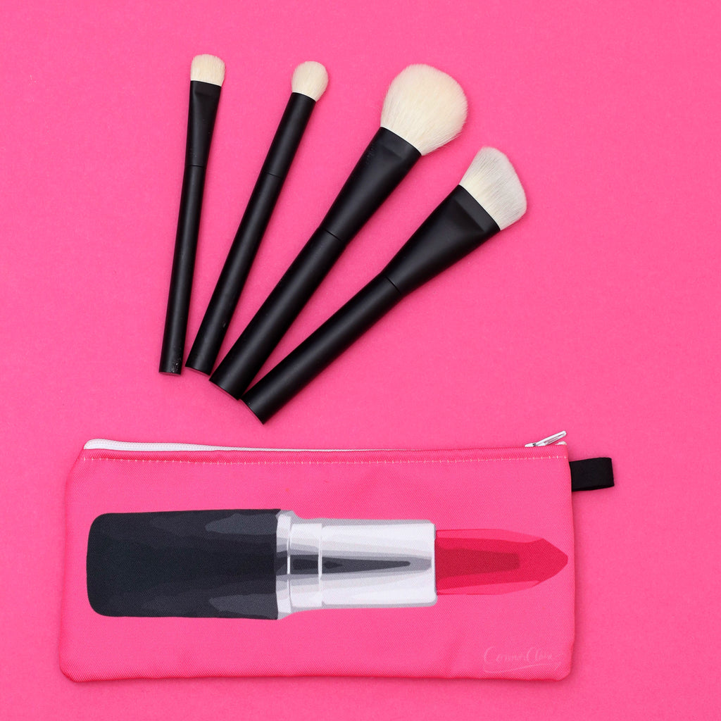 Drawn to Lipstick Makeup Bag