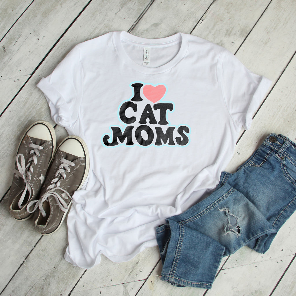 I Heart Cat Moms Tee