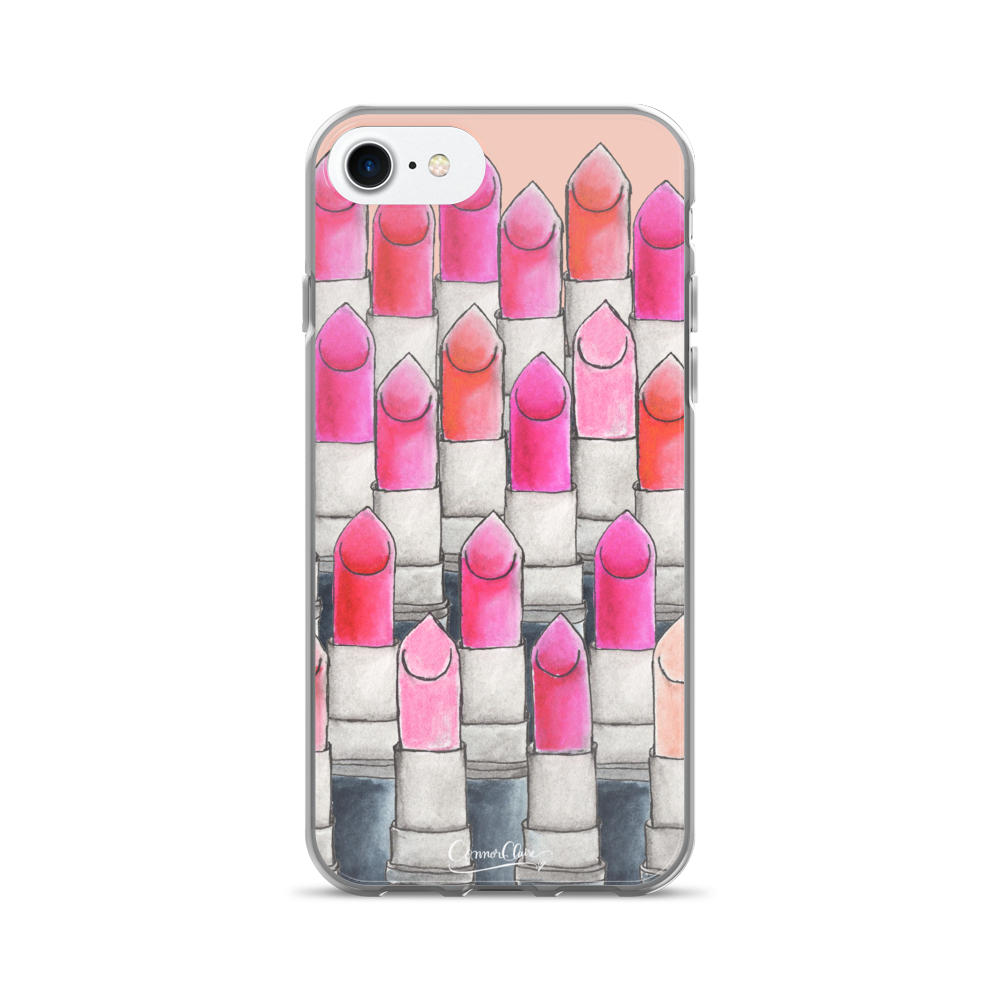 Attention Lipsticks iPhone Case