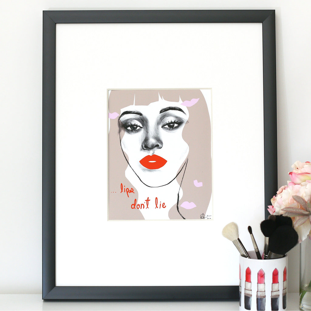 "Lips Don't Lie | 8""x10"" Art Print"
