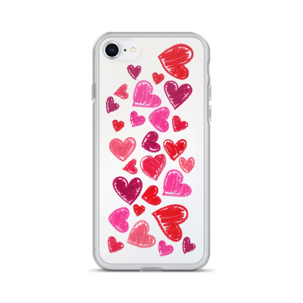 Lipstick Hearts iPhone Case