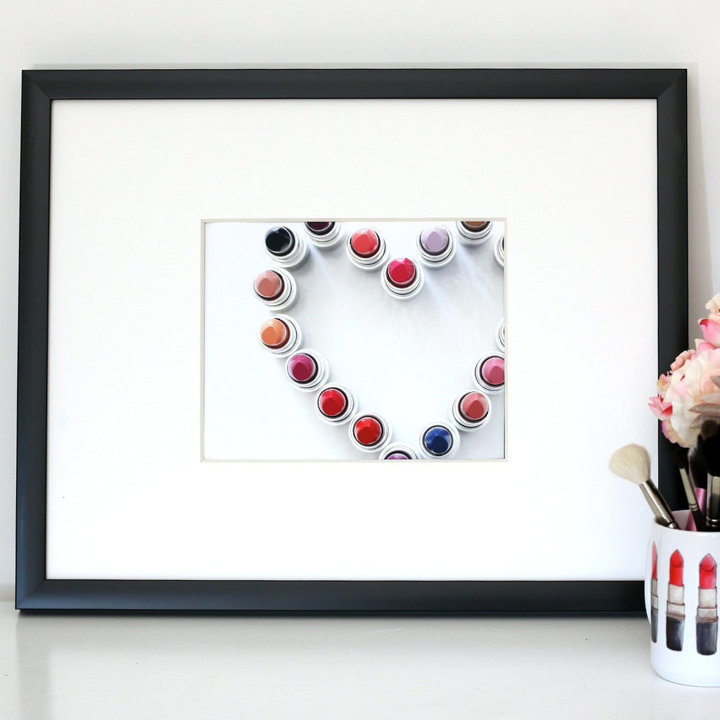 "My Heart Beats for Lipstick | 8""x10"" Art Print"