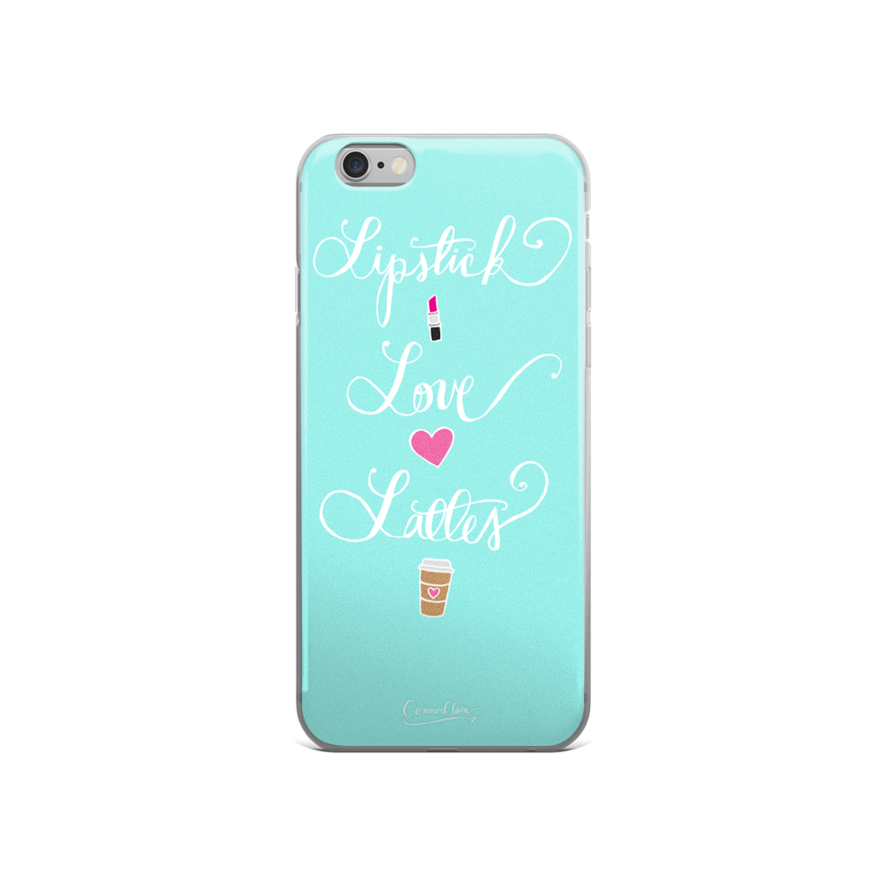 Lipstick Love Lattes iPhone Case