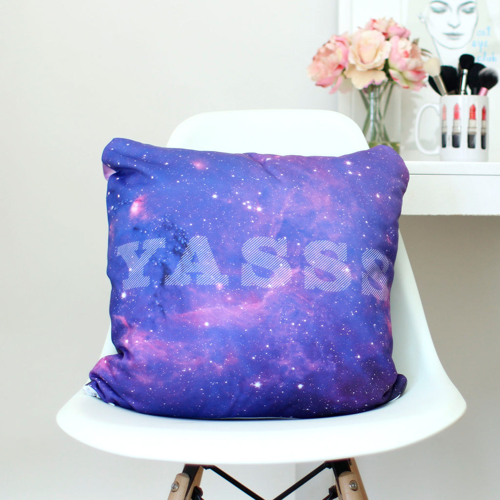 Space Tabby Throw Pillow