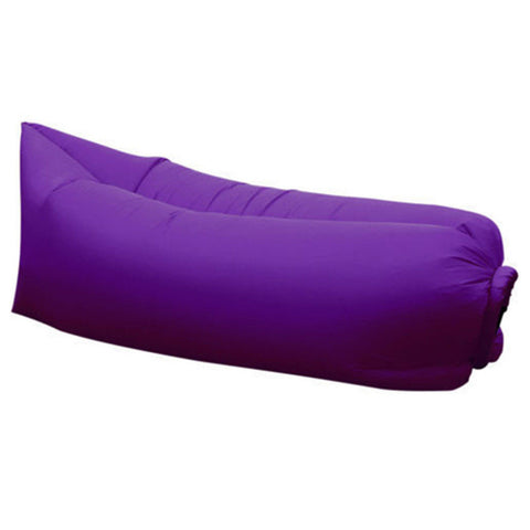 New Inflatable AirSofa Bed Lazy Sleeping Camping Bag Beach Hangout Couch Windbed