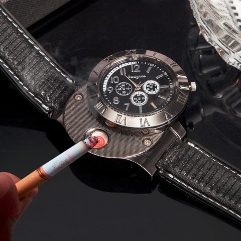 USB Rechargeable Lighter Wrist Watch
