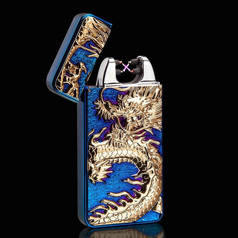 Dragon USB Rechargeable Plasma Arc Pulse Metal Electric Lighter