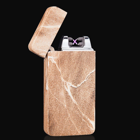 ECO Wood/Granite Casing Rechargeable Plasma Arc Pulse Metal Electric Lighter