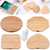 Bamboo Wood Slim Pad Wireless Charger Charging Mat For iPhone X 8 Plus Note 8 S7