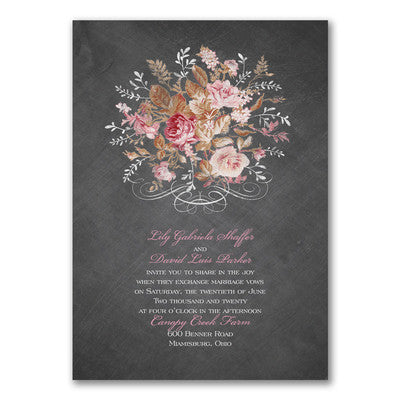 Wooden Roses - Invitation