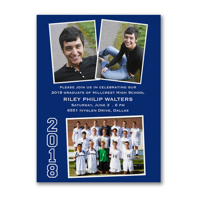 Lots of Shots - Photo Graduation Invitation