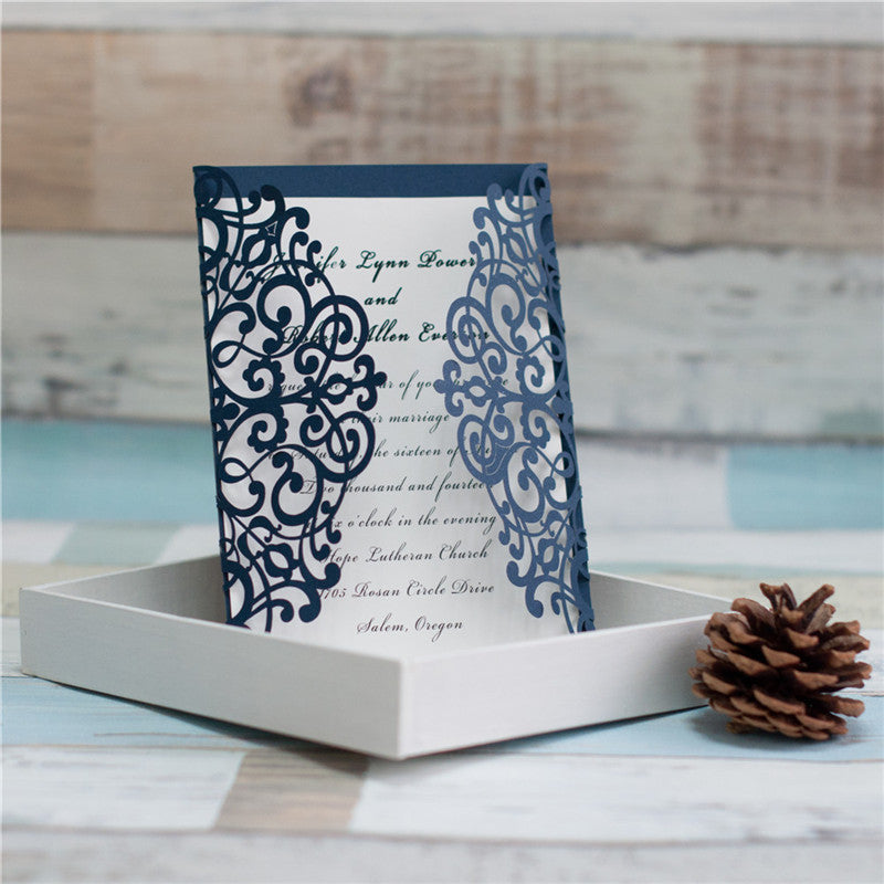 Gorgeous Lace Laser Cut Wedding Invitations