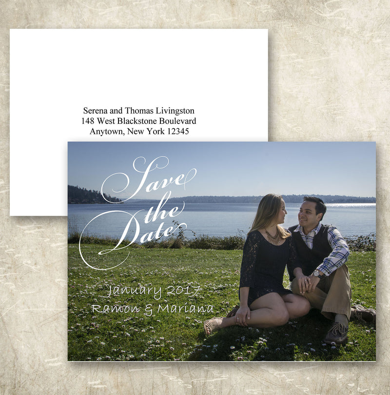 Horizontal Save the Date Card