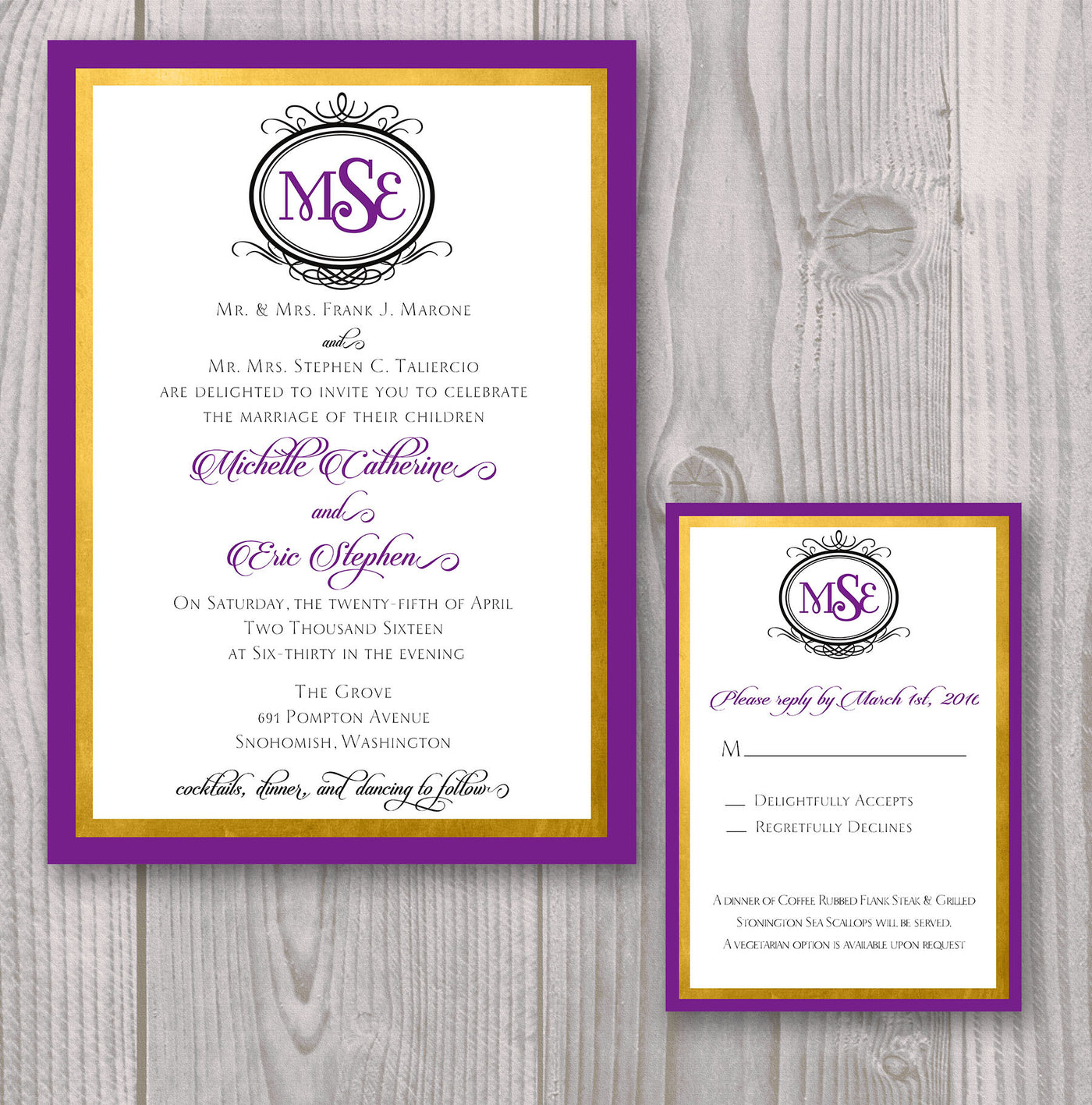 Monogram Wedding Invitation The Papers Edge