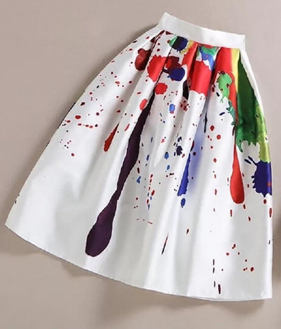 """The Standout"" Paint Splatter Skirt"