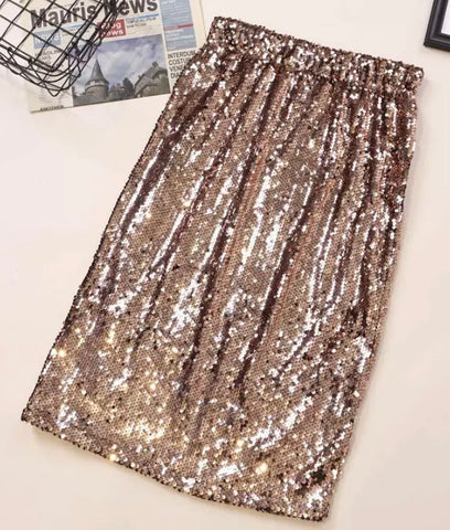 """The Medallion"" Sequin Midi Skirt"