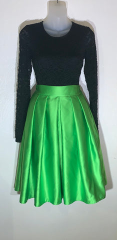 """The Standout"" Skater Skirt in Spring Green"