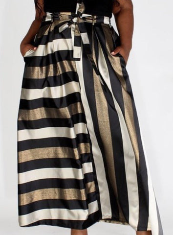 The Main Event Striped Metallic Maxi