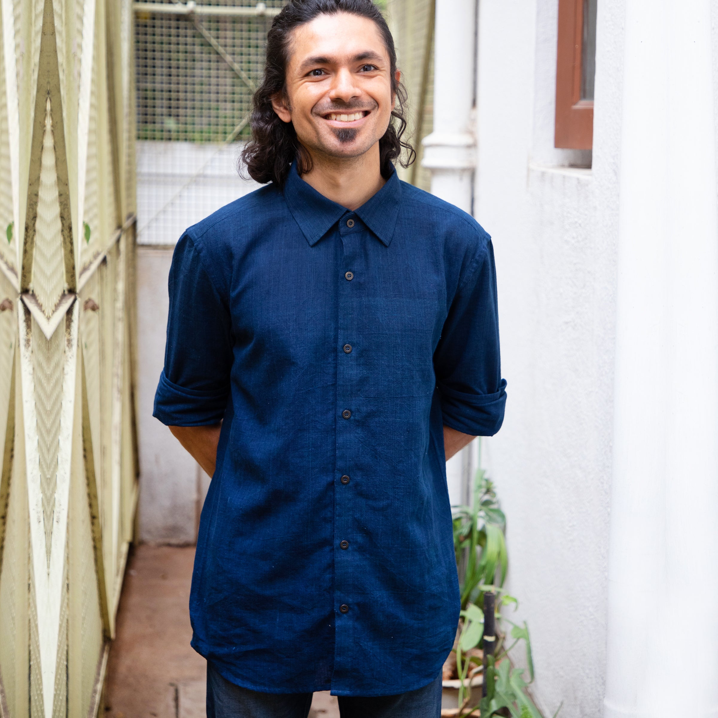 Indigo mens shirt