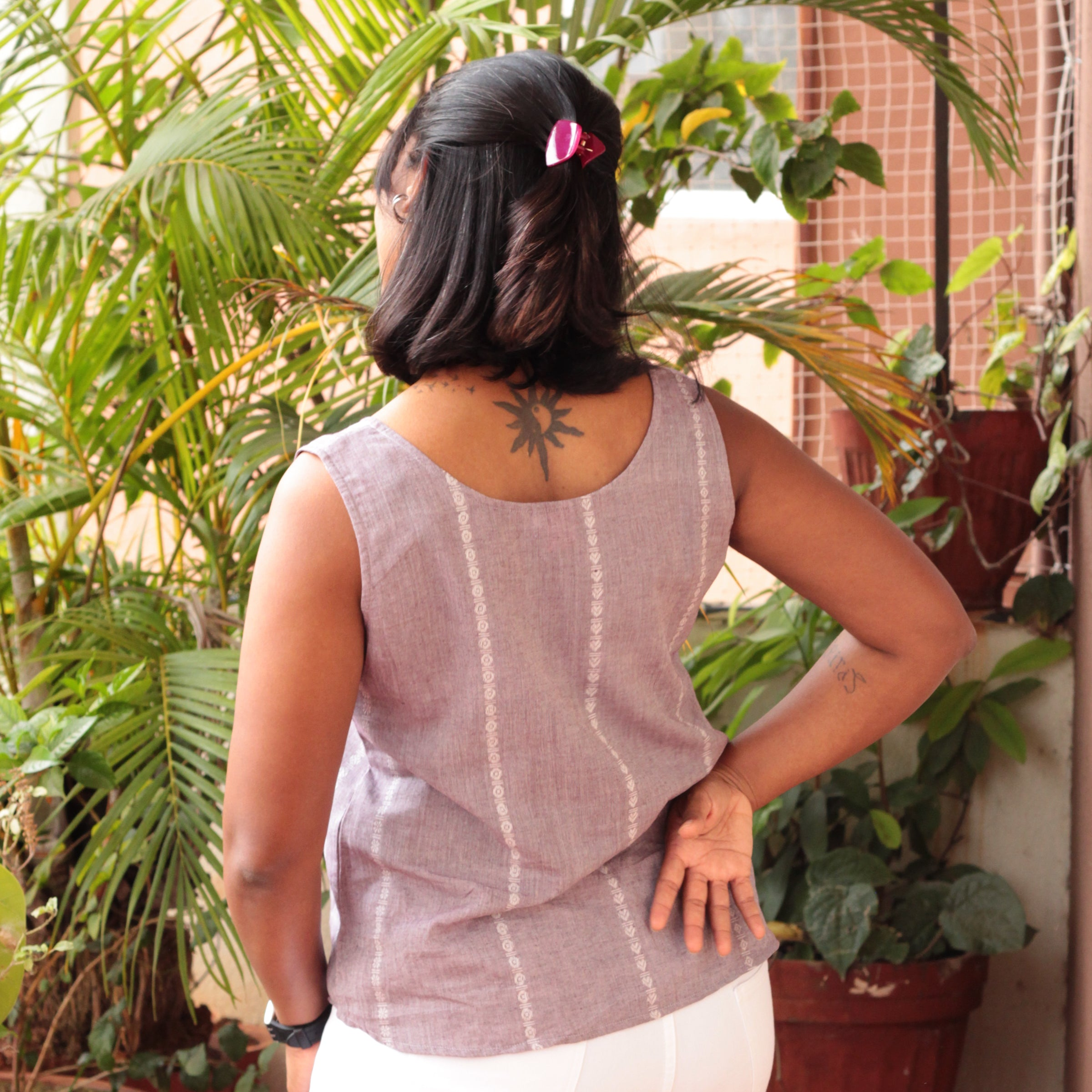 Lilac Grey Sleeveless Top