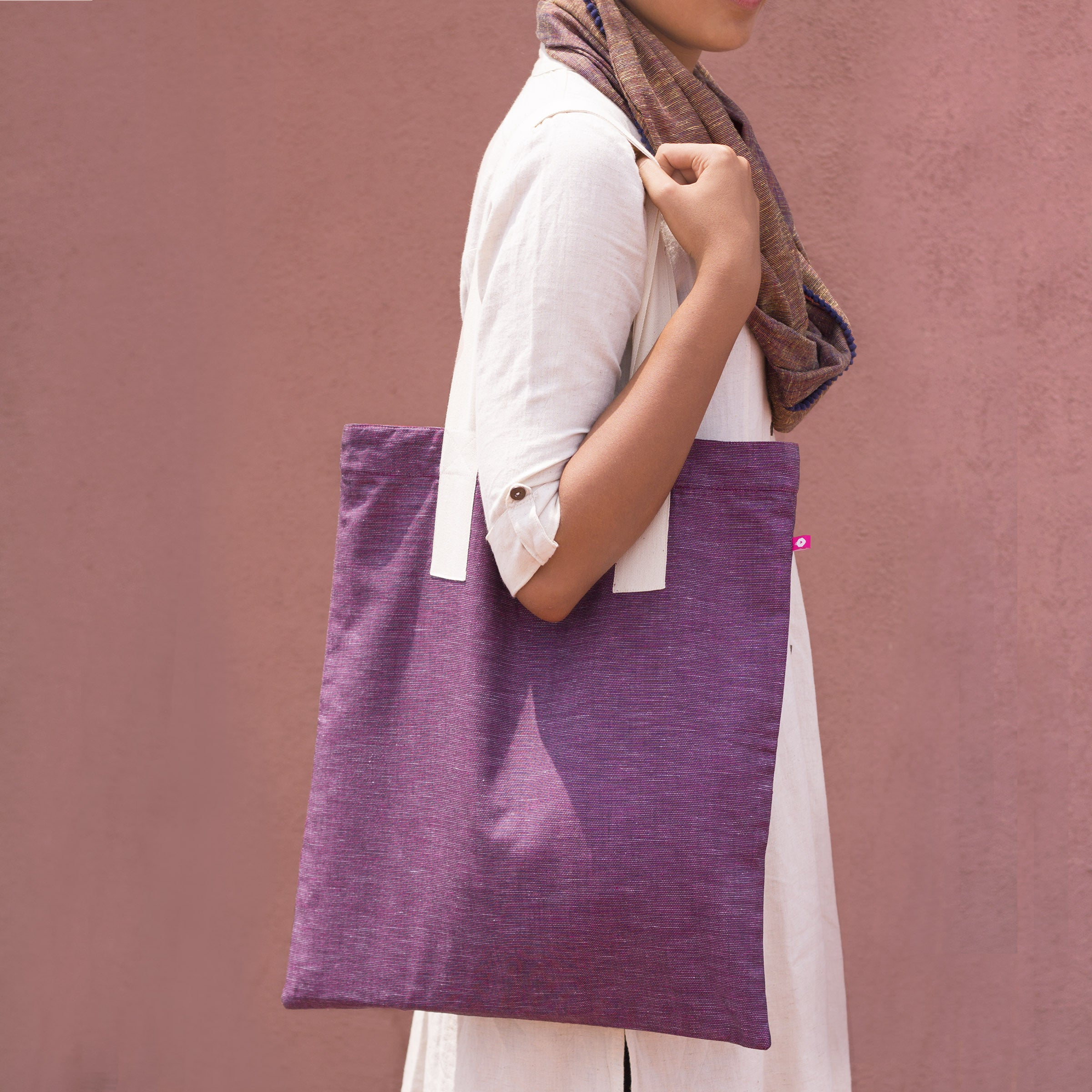 Mauve Reversible Tote - Pomogrenade - Ethical fashion