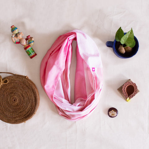 Pink Panther Infinity Scarf - Pomogrenade { Ethical fashion}