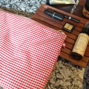 Gingham Check Pouches
