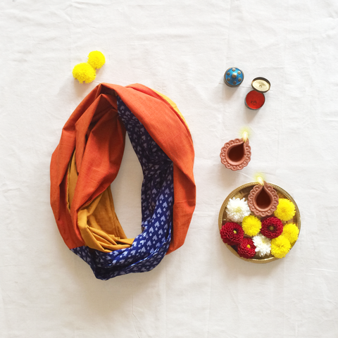 Boho Infinity Scarf - Multi-Colour