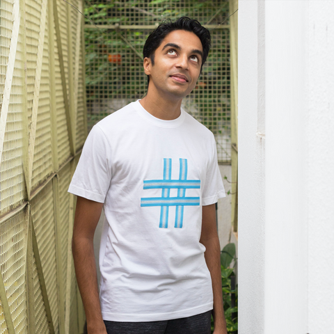 Blue Hashtag Upgraded Basics - Unisex T-shirt - Pomogrenade - Ethical fashion