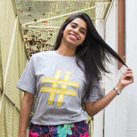 Yellow Hashtag Upgraded Basics - Unisex T-shirt - Pomogrenade { Ethical fashion}