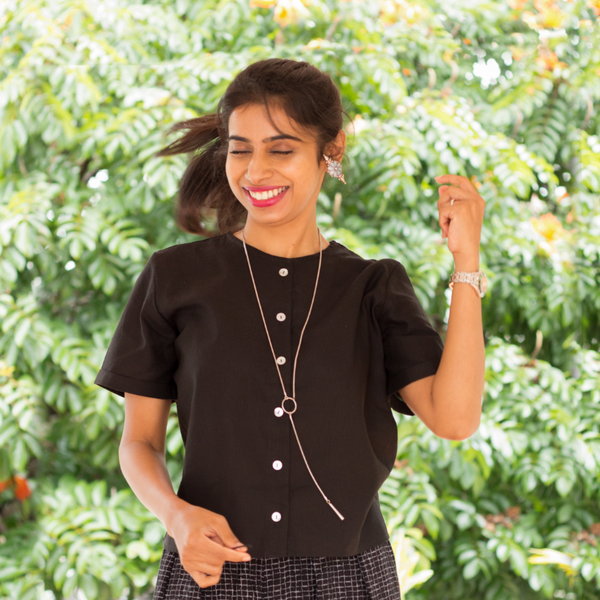 Black Crop Shirt - Pomogrenade - Ethical fashion