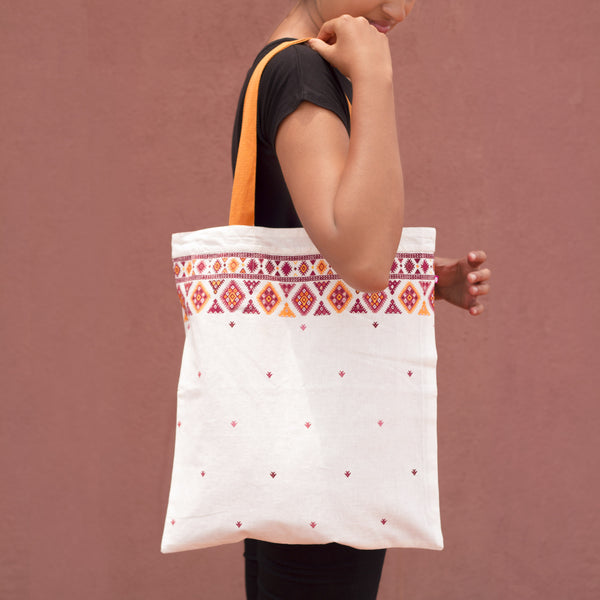 Aztec Reversible Tote - Pomogrenade { Ethical fashion}