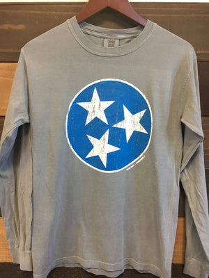 Blue TriStar Long Sleeve - Rocket Shirts