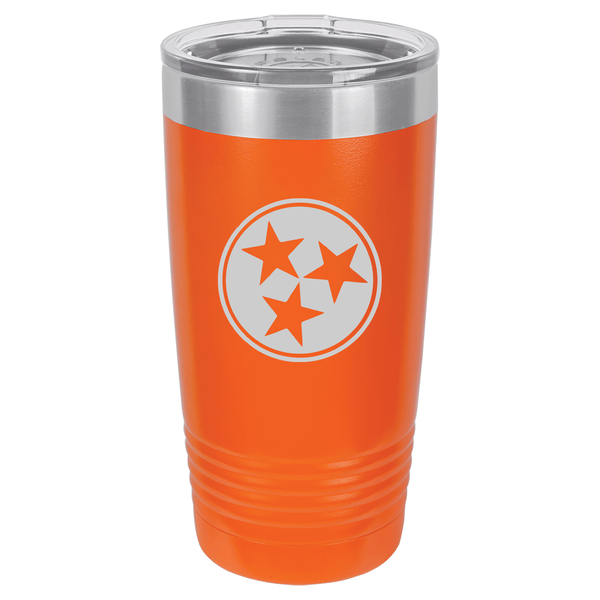 Tennessee Tri-Star Tumbler - Rocket Shirts