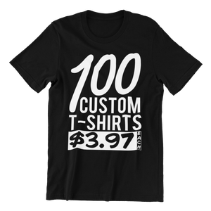 100 Black Shirts - Rocket Shirts