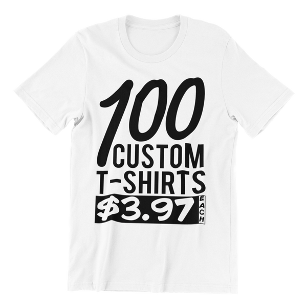 100 White Shirts - Rocket Shirts