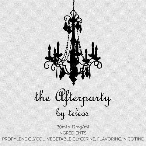 Teleos Afterparty Vape Juice: Raspberry Beignet (Raspberry filled Donut) - Mystic Vapor