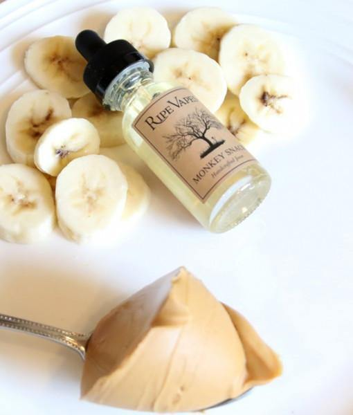 Ripe Vapes Monkey Snack e-juice: Peanut Butter and Banana ejuice by Ripe Vapes - Ventura County, California - Mystic Vapor Canada