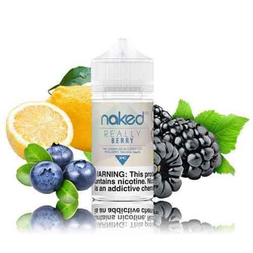 Naked 100 Very Berry (now Really Berry) Vape Juice - Blueberry | Blackberry | Lemon Sugar Syrup (60 ML)