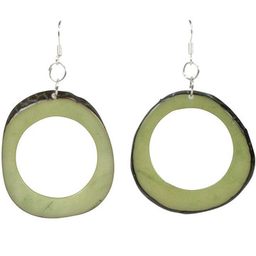 Vegetable Ivory Donut Earrings - Green