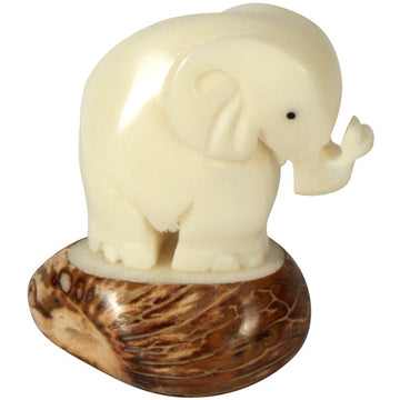 Baby Elephant Figurine - Vegetable Ivory