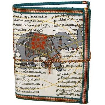 Elephant Block-Printed Cloth Journal