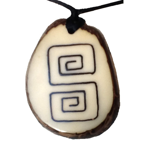 Fair Trade Tagua Nut Brilliance Pendant