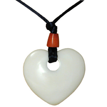 Fair Trade Tagua Nut Heart Pendant