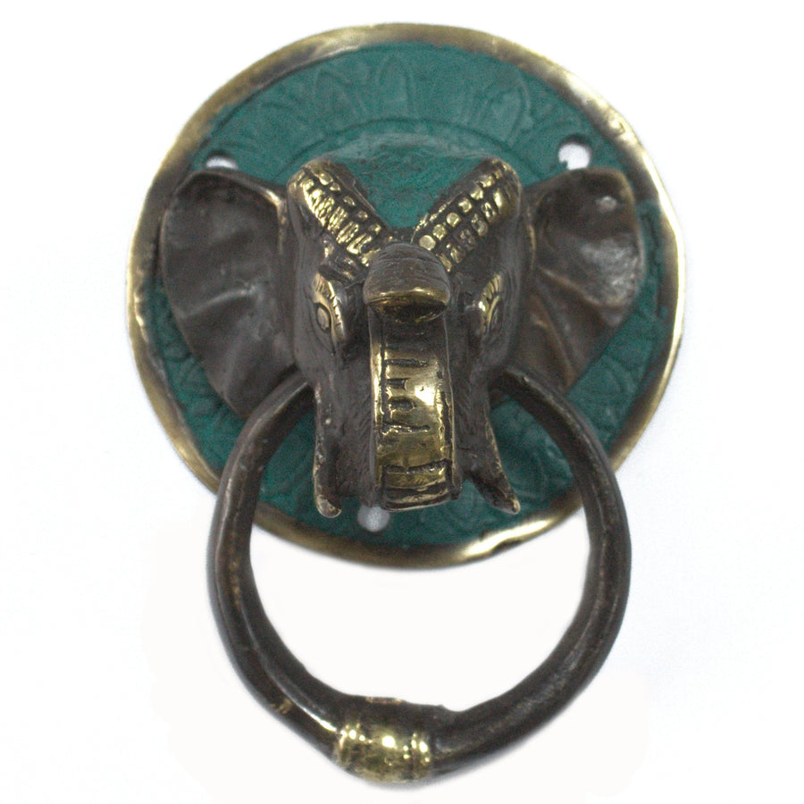 Brass Door Knocker - Elephants Head