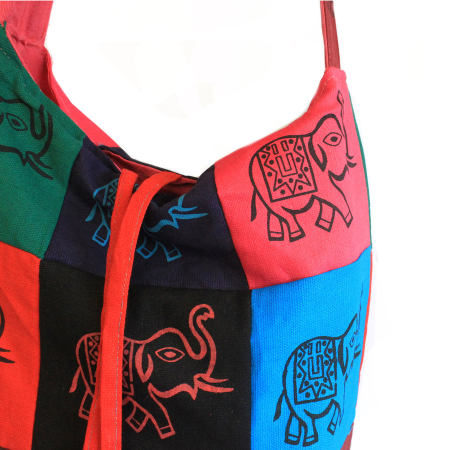 Cotton Patch Sling Bags - Elephant