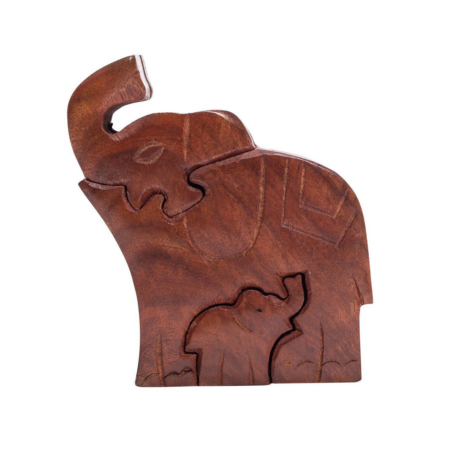 Mom & Baby Elephant Puzzle Box