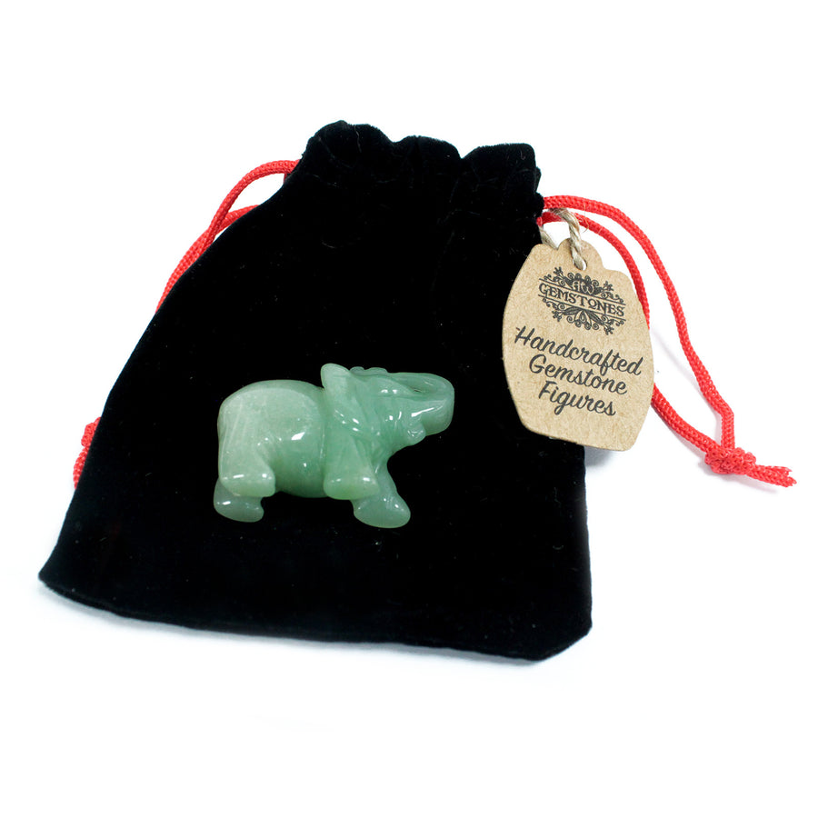 Handmade Elephant Carved Gemstone - Jade
