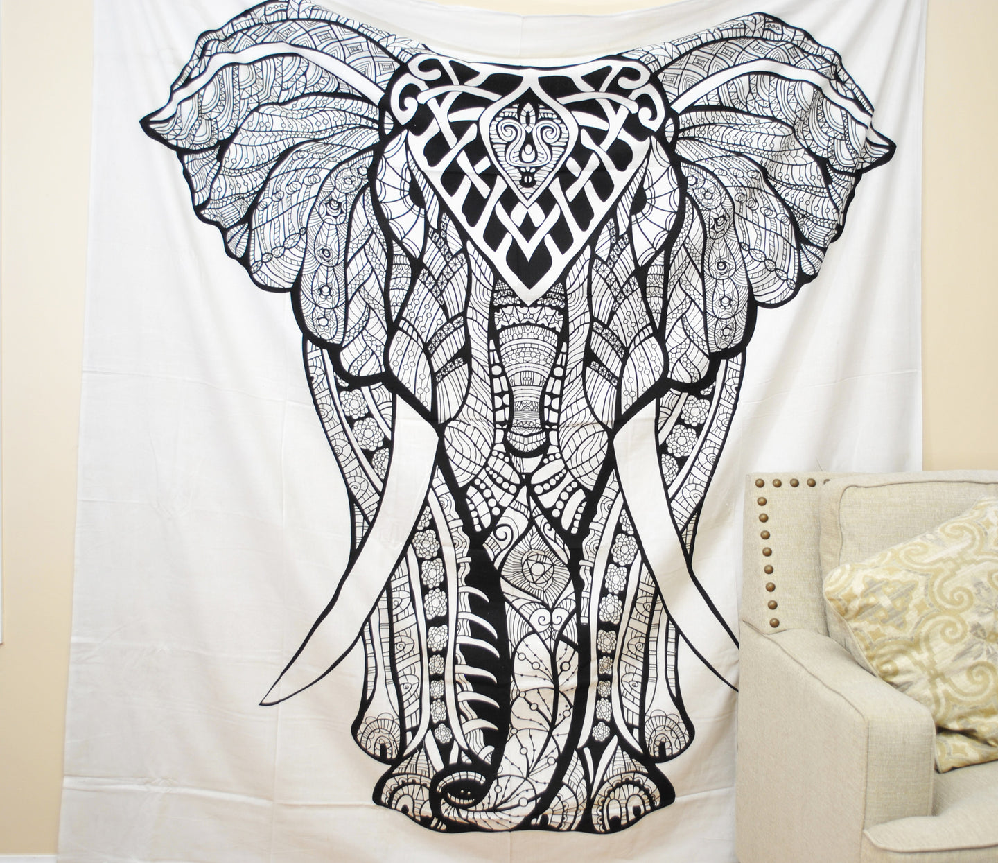 'She' Elephant Tapestry