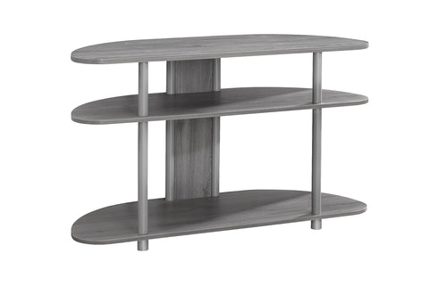 "Monarch I 2521 Tv Stand - 38""L / Grey With Silver Accent"